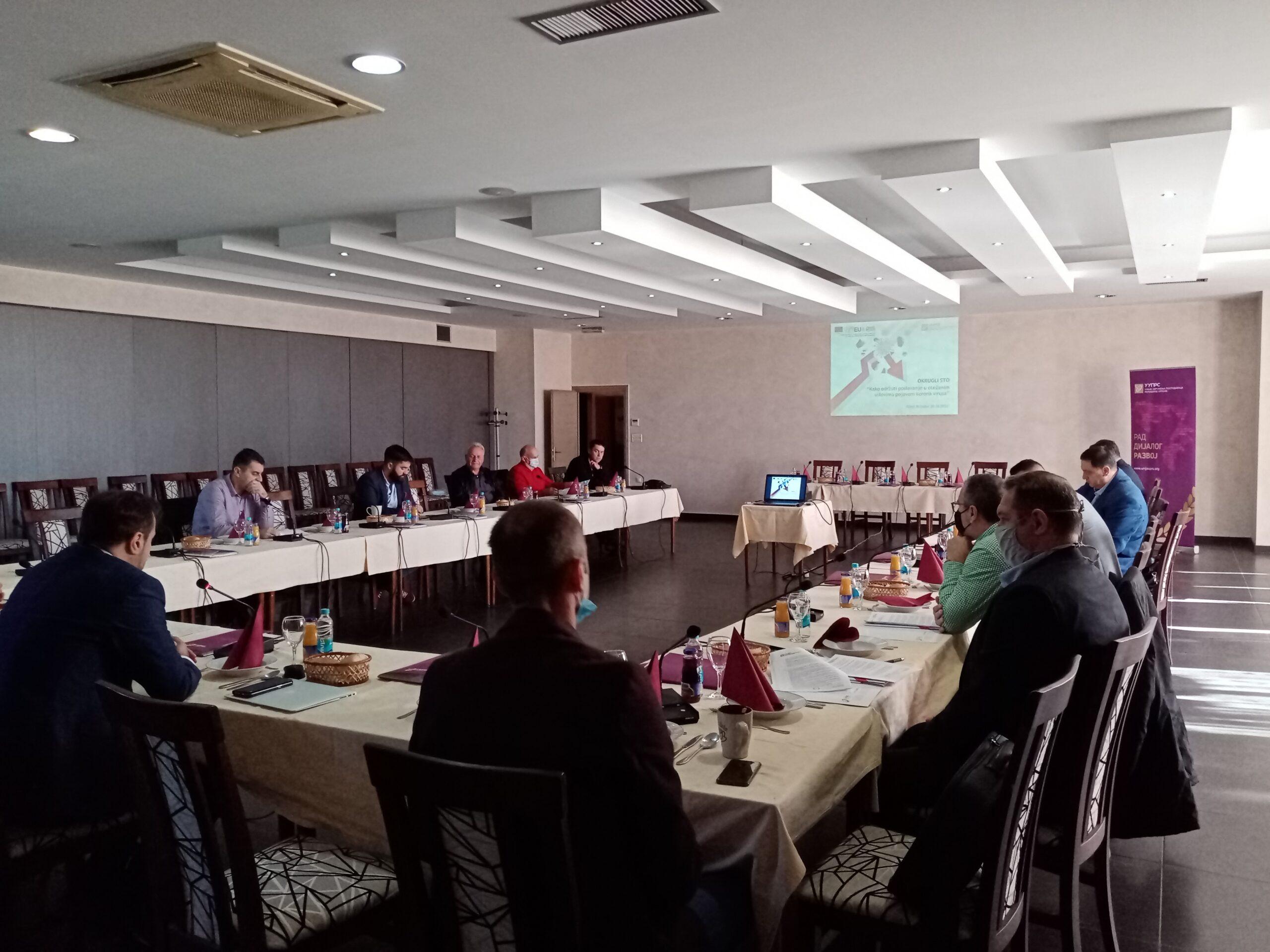 Unija poslodavaca održala radni ručak sa poslodavcima sa područja grada Prijedora